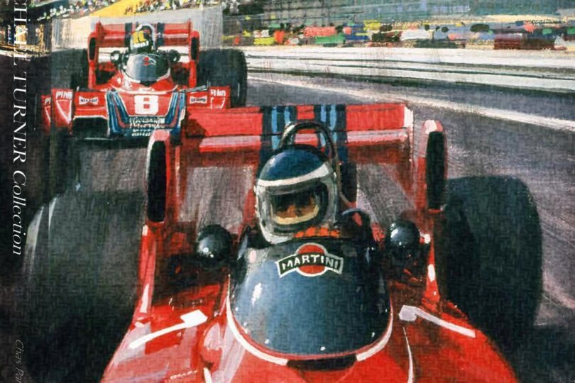 The Michael Turner Collection - Over 50 Years Of Motor-Sport Inspired Christmas Cards, Chas Parker with Michael Turner