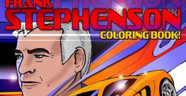 One of the most iconic and influential designers of all time, Frank Stephenson, launches official colouring book